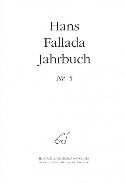 Hans Fallada Jahrbuch Nr. 5
